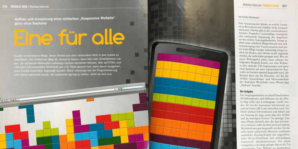 Artikel in der Mobile Technology 4/2011: Eine für Alle