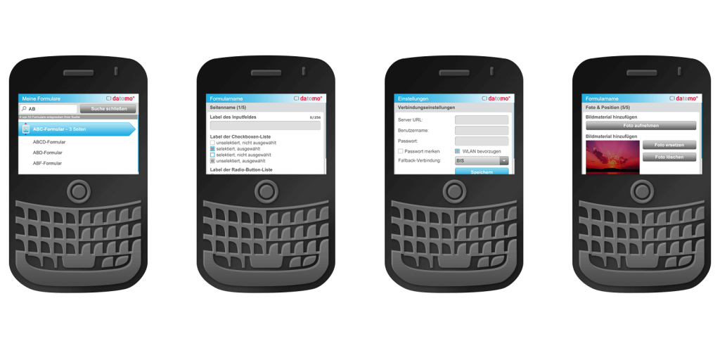 BlackBerry App für den datomo Enterprise-Baukasten