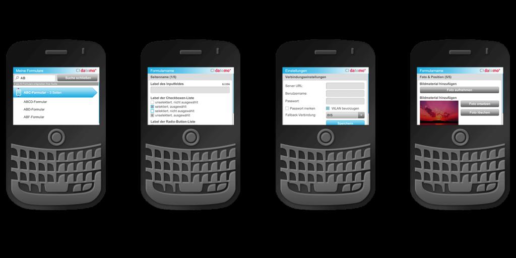 BlackBerry App für den datomo Enterprise-Baukasten