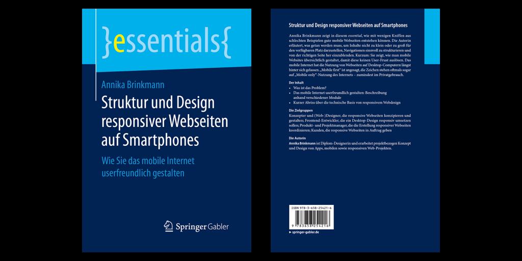 """Buch-Umschlag """"Struktur und Design responsiver Webseiten auf Smartphones"""""""