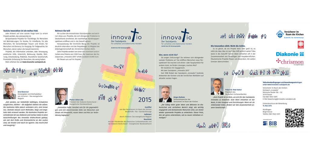 Flyer des Innovatio-Sozialpreises 2015
