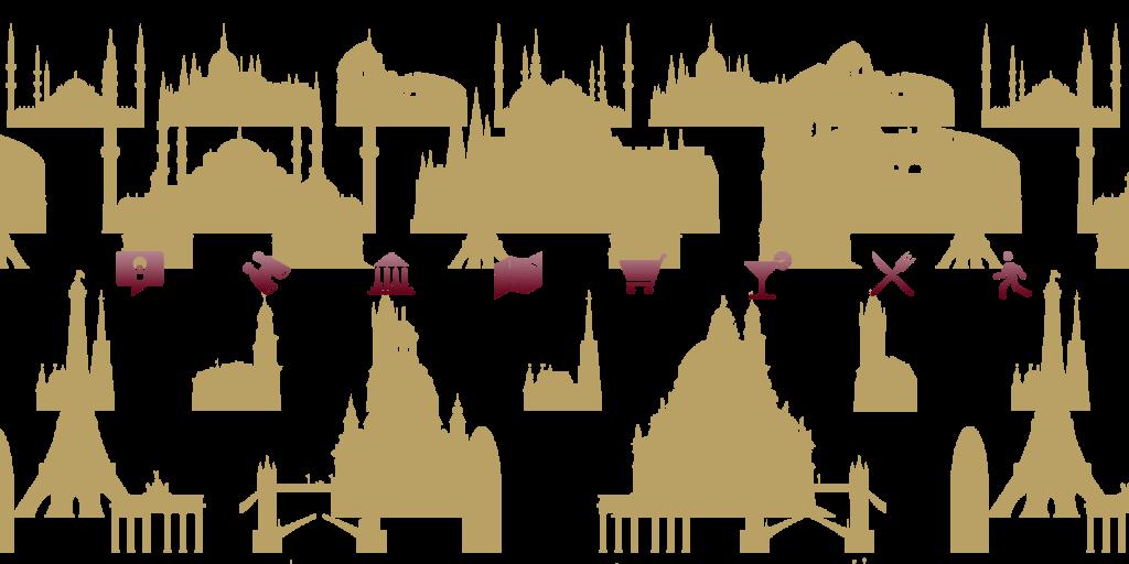 Illustrationen und Piktogramme für die TUI City Guide App