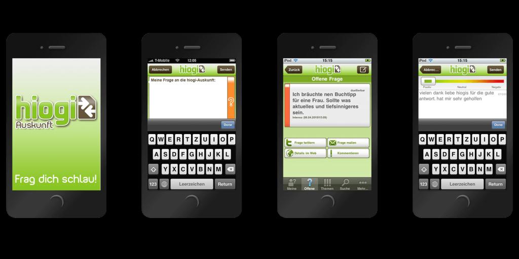 White-Label iPhone App für die hiogi Frage-Community