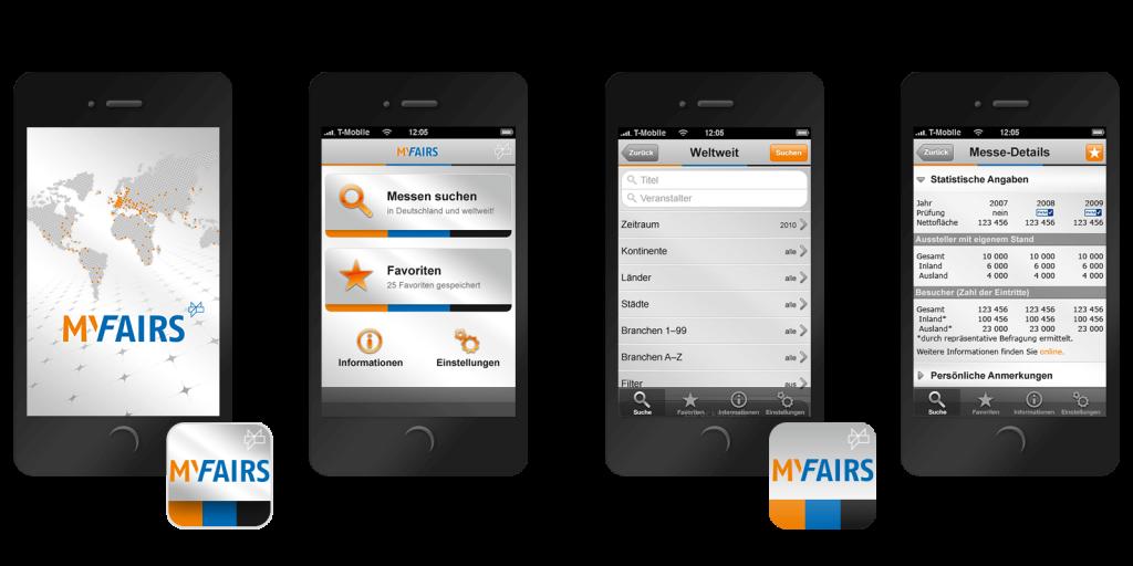 Die iPhone-App MyFairs basiert auf den Daten des AUMA