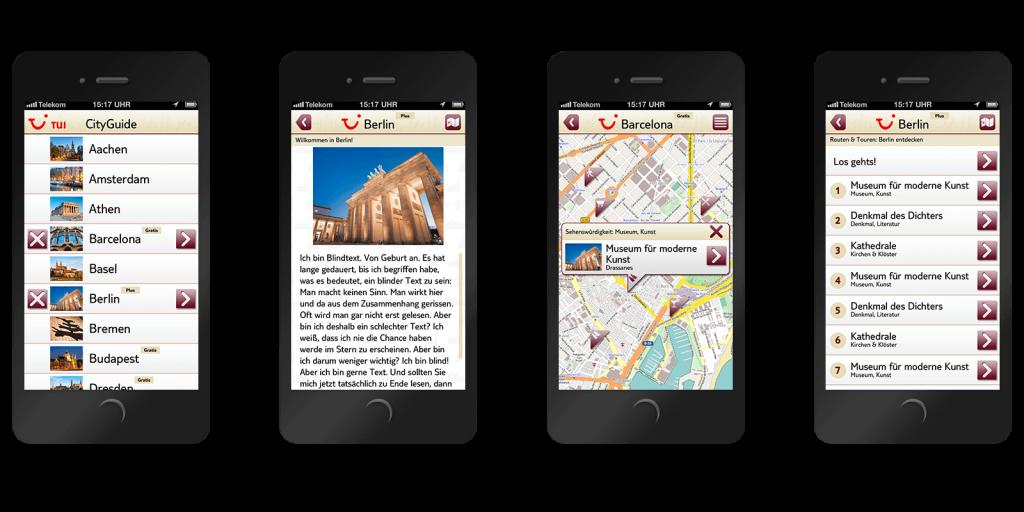 TUI City Guide App aus dem Jahre 2012