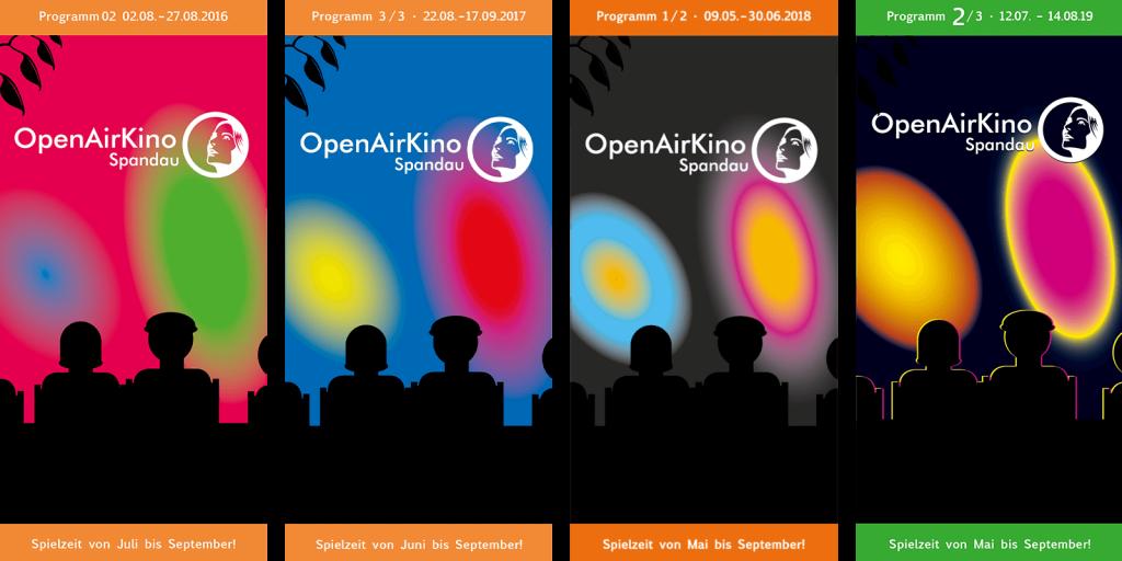 Auffällige Flyer: Programmhefte für das OpenAirKino Spandau