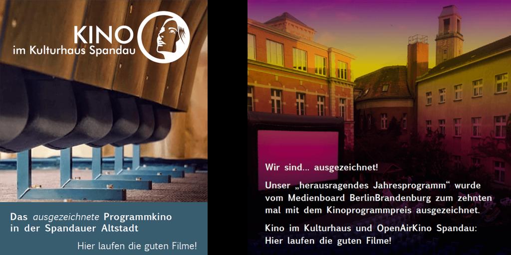 Anzeigen für das Kino im Kulturhaus im Flyer des OpenAirKinos